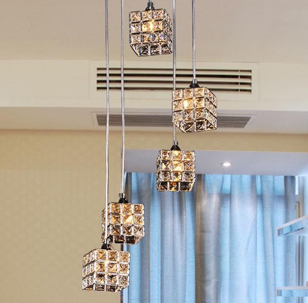 Đèn thả trần pha lê phòng khách - Đèn pha lê thả trần phòng khách