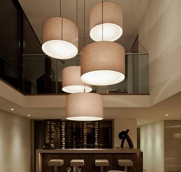 Đèn thả quán cafe bằng lụa- Đèn thả