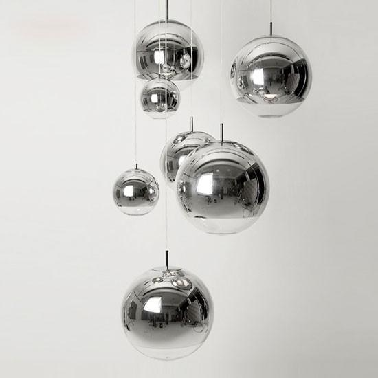 Đèn thả trần thủy tinh - Đèn bàn thủy tinh Mirror Ball