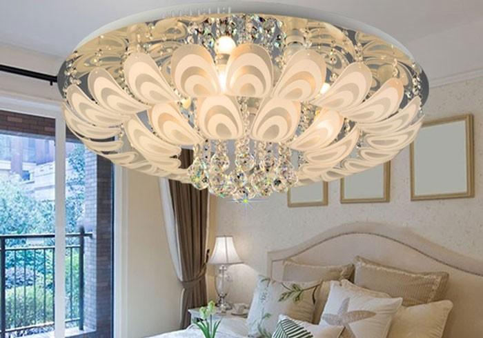Đèn mâm ốp trần phòng ngủ - Đèn mâm pha lê