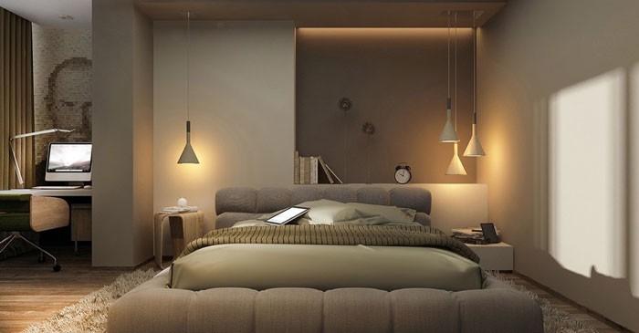 Đèn thả trần phòng ngủ hiện đại - Đèn thả trần