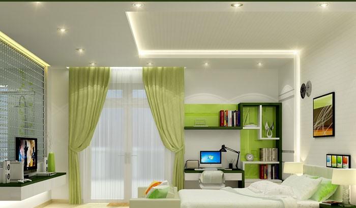Đèn trần thạch cao phòng ngủ - Đèn ốp trần