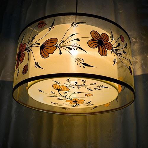 Đèn chao bằng vải - Chao đèn thả trần bằng vải - Chao đèn trang trí cao cấp