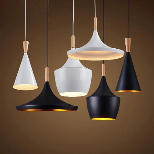 Đèn thả phòng ăn hiện đại đui gỗ