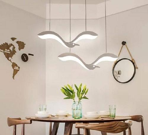 Đèn trang trí bàn ăn hiện đại hình chim