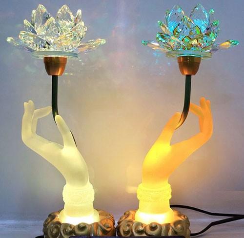 Đèn thờ pha lê - Đèn bàn thờ pha lê - Đèn bàn