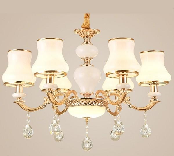 Đèn chùm đơn giản pha lê phong cách châu Âu- Đèn chùm pha lê