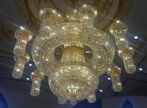 Đèn chùm pha lê trang trí phòng khách Φ 1500 - Đèn chùm pha lê