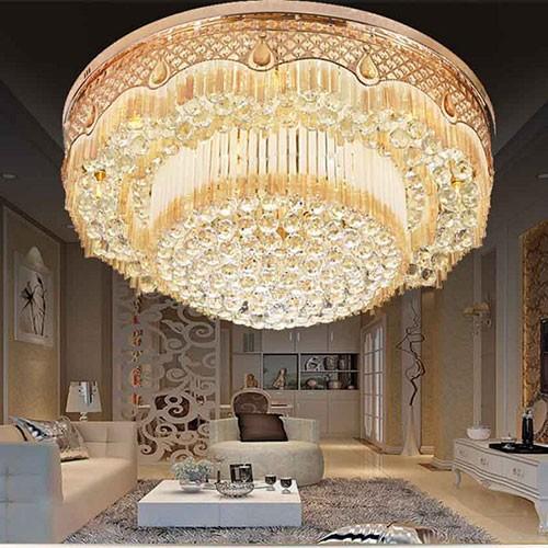 Đèn chùm pha lê trang trí phòng khách hoàng gia - Đèn chùm pha lê