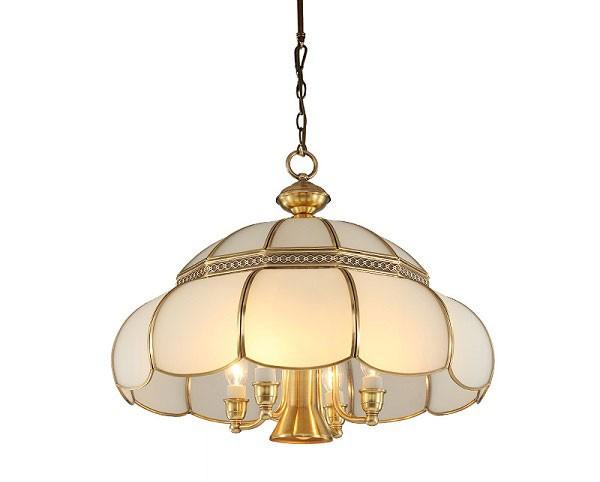 Mẫu đèn chùm phòng khách chung cư châu Âu- Đèn chùm đồng