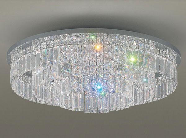 Đèn chùm cho phòng khách chung cư LED Panasonic- Đèn chùm pha lê