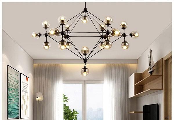 Đèn chùm cho phòng khách chung cư ORIC 21 bóng cao cấp- Đèn chùm pha lê