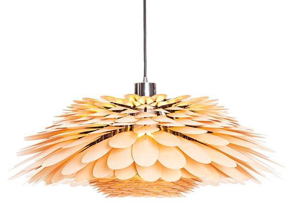 Đèn thả trần bằng gỗ hình hoa nhiều cánh- Đèn gỗ thả trần