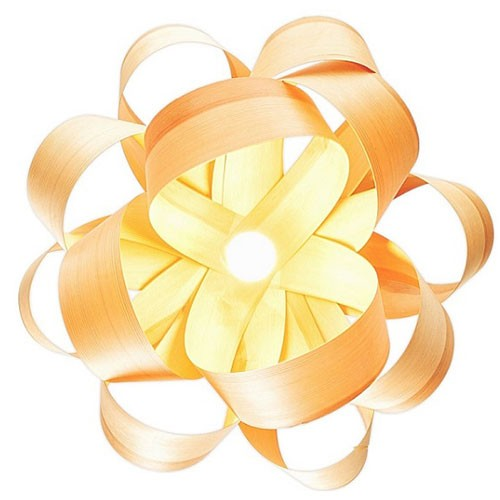 Đèn gỗ treo trần hoa hồng nhung- Đèn gỗ thả trần