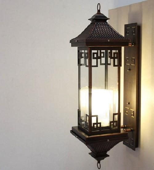 Đèn LED treo tường ngoài trời bằng đồng B6007-1 - Đèn tường