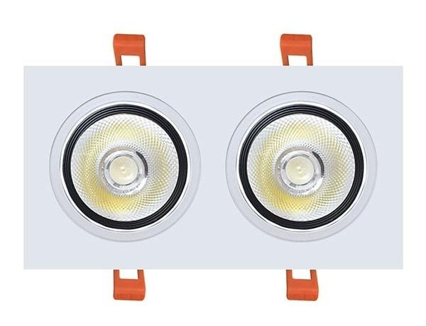 Giá đèn LED âm trần vuông đôi
