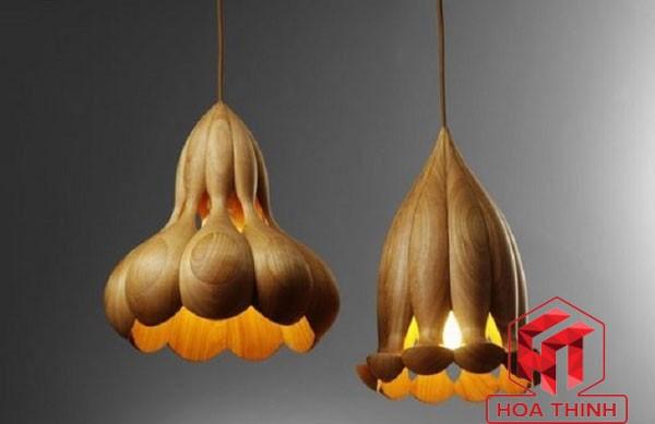 Đèn gỗ treo trần - Đèn thả trần