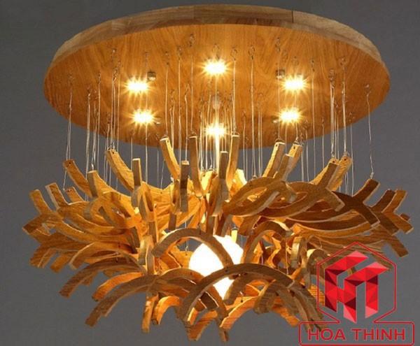 Đèn chùm bằng gỗ treo trần - Đèn thả trần