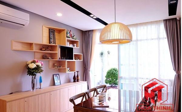 Đèn gỗ thả bàn ăn - Đèn thả trần