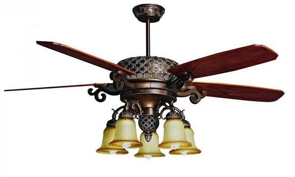 Đèn quạt trần gỗ - Đèn quạt trần