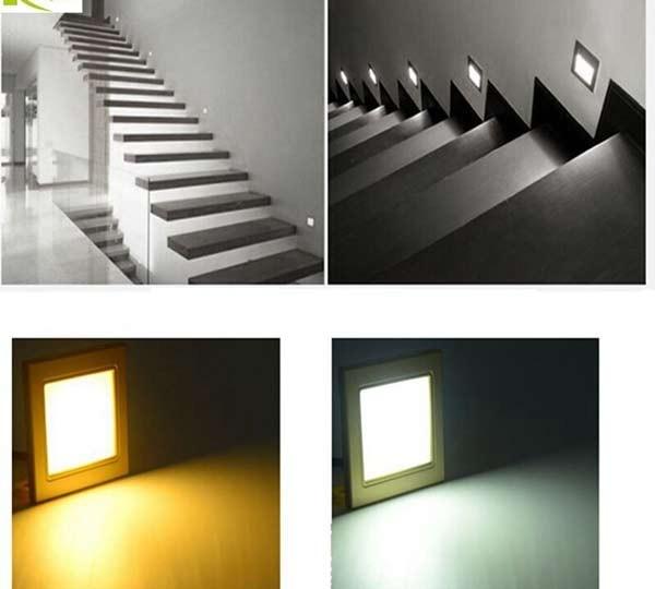 Đèn ốp tường cầu thang vuông - Đèn cầu thang vuôngFootlight