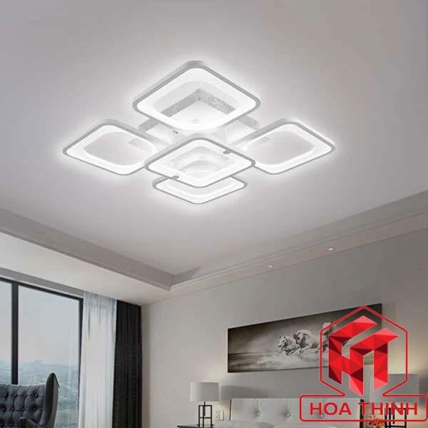 Đèn mâm ốp trần trang trí phòng kháchLED vuông