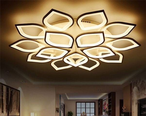 Đèn mâm ốp trần trang trí phòng khách HTM42