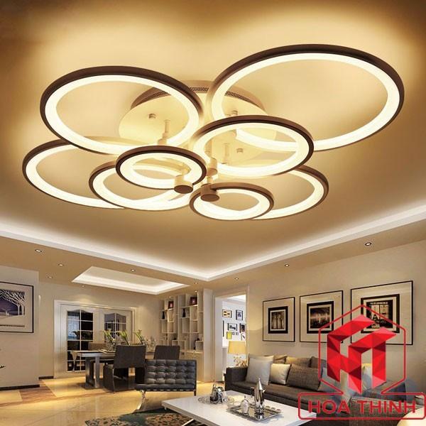 Đèn mâm ốp trần trang trí phòng khách chống ẩm
