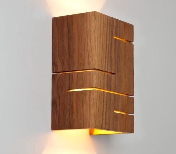 Đèn treo tường trang trí phòng ngủ bằng gỗ - Đèn ngủ hiện đại treo tường