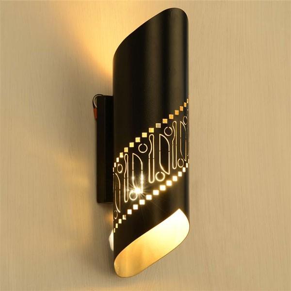 Đèn ngủ treo tường hiện đại hình cuộn - Đèn treo tường phòng ngủ hình cuộn