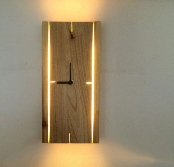Đèn treo tường đồng hồ phòng ngủ - Đèn ngủ treo tường hiện đại