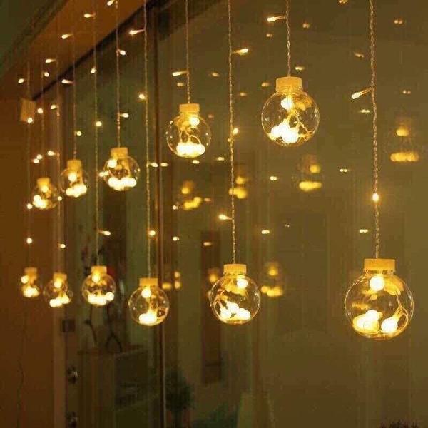 Đèn LED nháy thả mành hình cầu