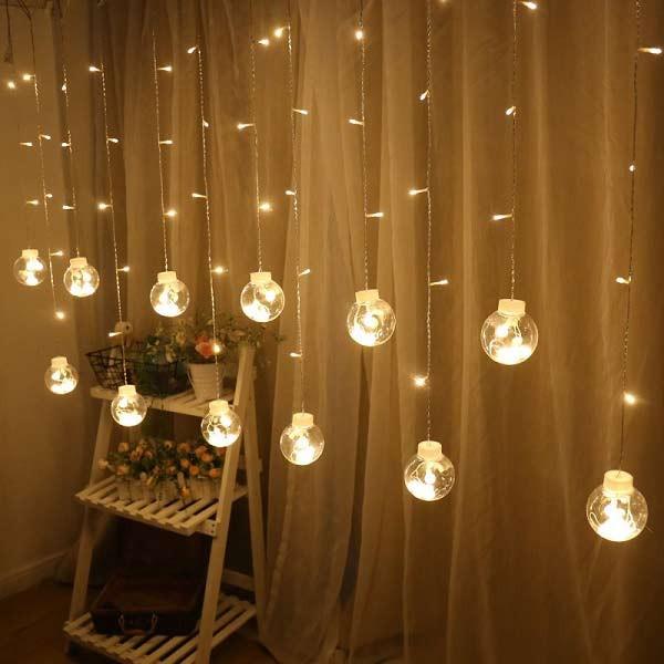 Tổng hợp mẫu đèn nháy thả mành trang trí nội, ngoại thất đẹp【2020】