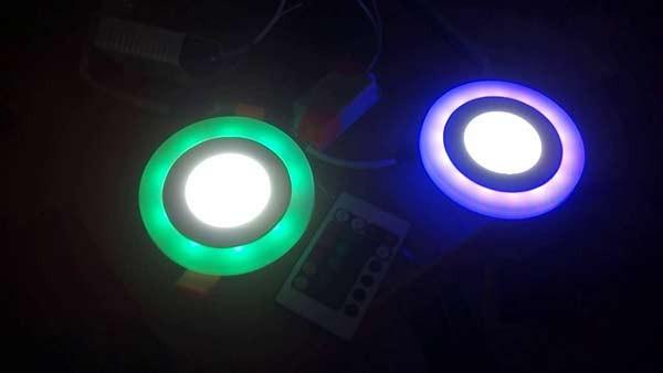 Đèn LED ốp trần tròn - Đèn ốp trần tròn đổi màu- Đèn Ốp Trần