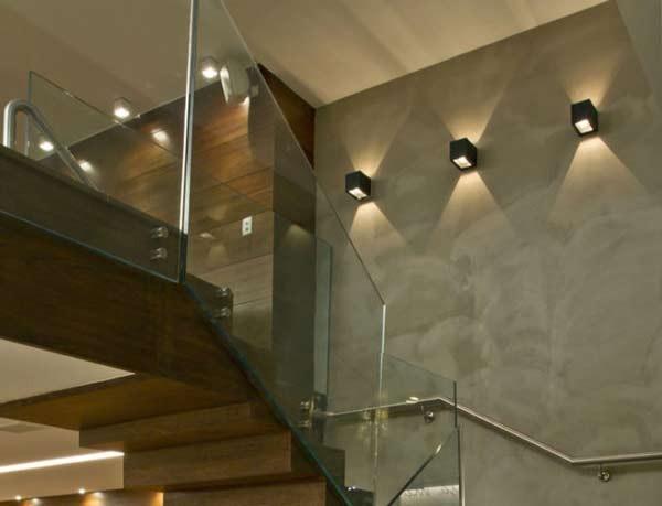 Đèn ốp tường cầu thang bóng LED - Đèn trang trí cầu thang bóng LED- Đèn ốp tường
