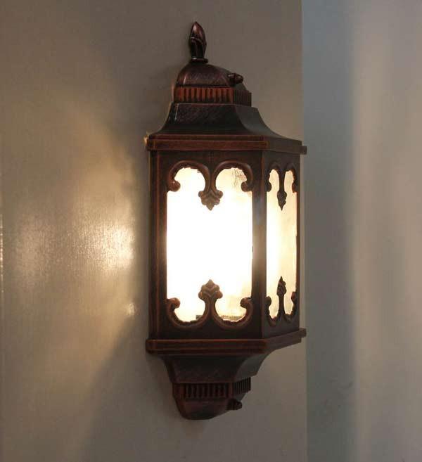 Đèn ốp tường cầu thang bằng gỗ - Đèn ốp tường gỗ trang trí cầu thang- Đèn tường