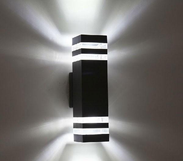 Đèn trang trí ốp tường ngoài trời 5w - Đèn ốp tường ngoài trời 5w 2 đầu- Đèn Ốp Tường