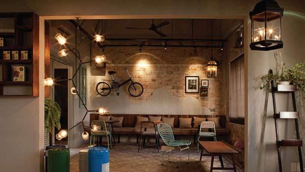 Đèn thả quán cafe bóng tròn - Đèn thả quán cà phê bóng tròn