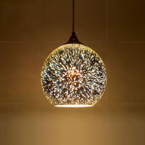 Đèn thả trần LED 3D cho phòng ngủ - Đèn thả trần
