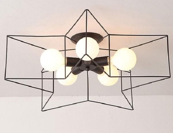 Đèn trần phòng khách hiện đại ngôi sao 3D- Đèn Thả Trần