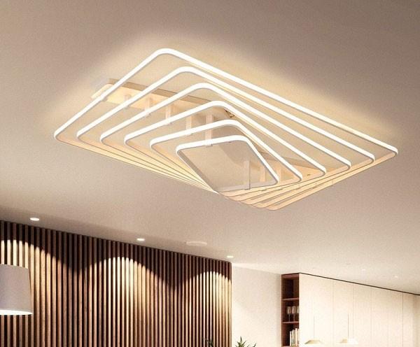 Đèn LED trần phòng khách hiện đại- Đèn Ốp Trần