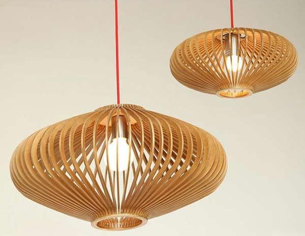 Đèn thả phòng ngủ bằng gỗ- Đèn thả trần