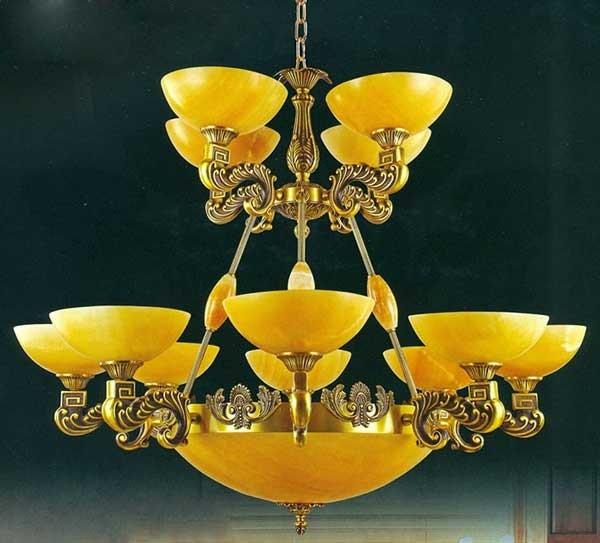 Đèn chùm đồng - Đèn chùm đồng cổ điển - Đèn chùm đồng tân cổ điển - Đèn chùm đồng cao cấp