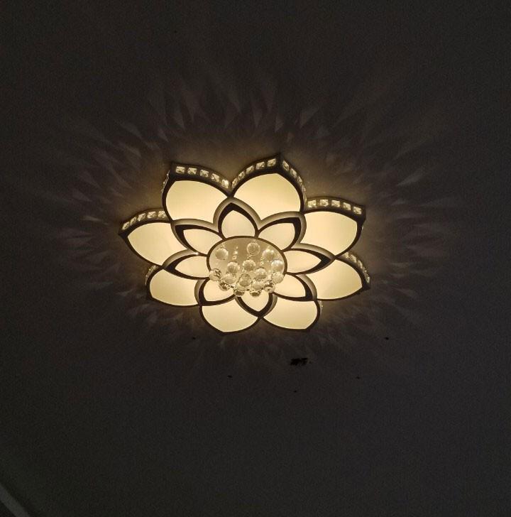 Đèn ốp trần cánh hoa pha lê HTOP-02 | Ảnh 2