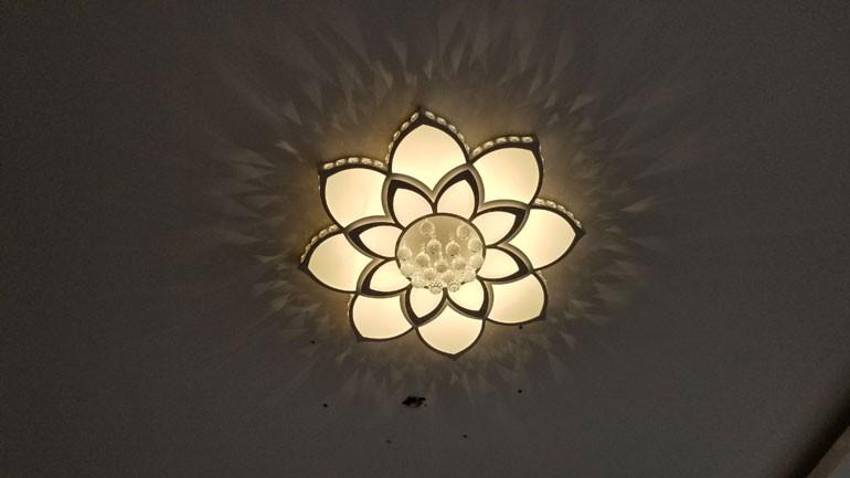 Đèn ốp trần cánh hoa pha lê HTOP-02 | Ảnh 4