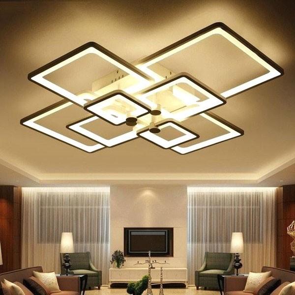 Đèn LED trần nhà- Đèn LED ốp trần trang trí phòng khách