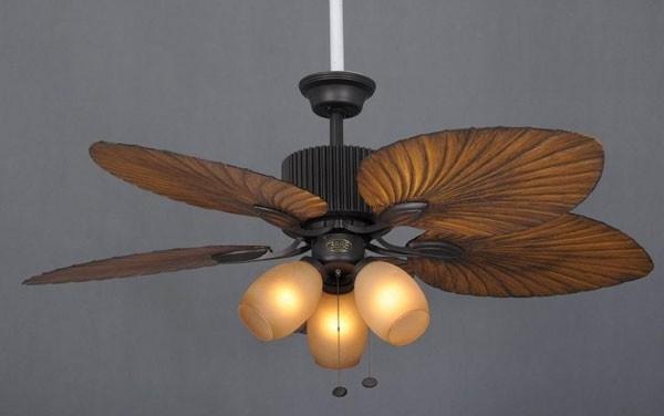 Đèn quạt trần có đèn tân cổ điển trang trí phòng ngủ