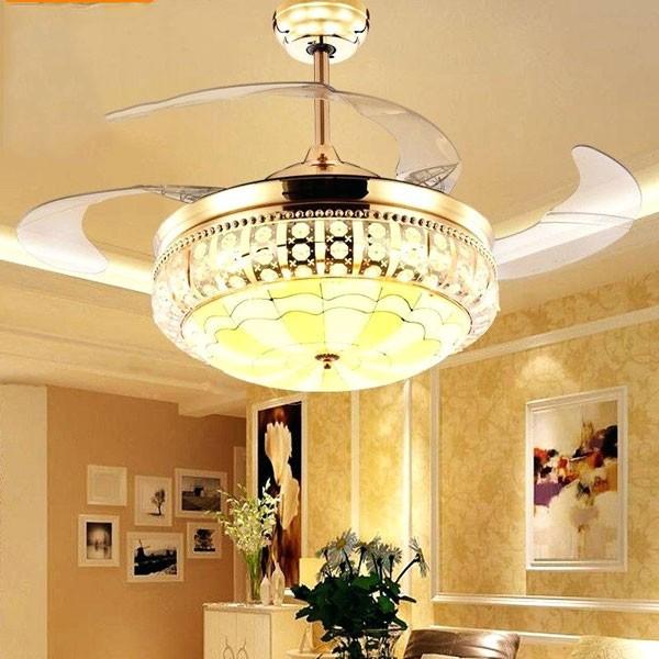 Quạt trần đèn chùm cao cấp - Đèn chùm quạt trần cao cấp