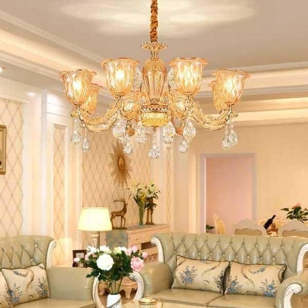 Đèn chùm hoa ly - Đèn Chùm Pha Lê - Đèn Trang Trí