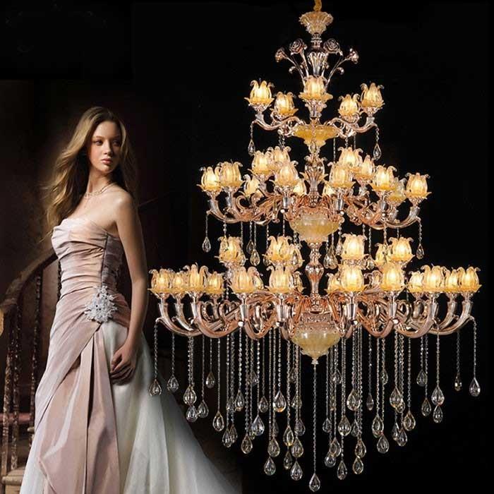 Đèn nến chùm trang trí phong cách cổ điển- Đèn chùm đồng